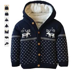 Material: 95% Cotton,5% Polyester,coral cashmere lining.soft and comfortable, breathable and stretched, perfect for baby skin.keep body warm in Winter. Polo Sweater, Hooded Sweater, Sweater Jacket, Long Sleeve Sweater, Boys Sweaters, Winter Sweaters, Little Boy And Girl, Boy Or Girl, Body Warmer