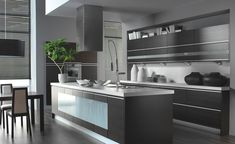Kitchen, Kitchen Island Design Trends 2015 With Stainless Steel Kitchen Faucet With Dark Cabinet Ideas: Kitchen Design Trends 2015 that People Should Follow