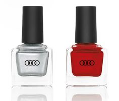 All your exteriors should be Audi colors--even your nails. Audi Tt, You Nailed It, Nail Designs, Perfume Bottles, Nail Polish, Pearls, Silver, Mazda, Anastasia