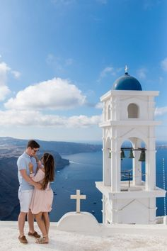 Couple's  photoshoot in Santorini, Greece by Phosart team! Click image to see more!