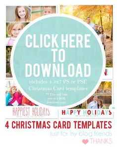 Free Christmas Card Templates for 2012