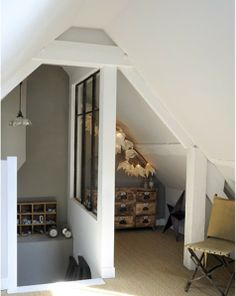 5 Amazing and Unique Tricks: Tiny Attic Kids attic floor cottages.Attic Makeover Home Theaters attic entrance master bedrooms.Old Attic Sleep. Attic Spaces, Attic Rooms, Attic Playroom, Attic Bathroom, Modern Bathroom, Attic Renovation, Attic Remodel, Loft Grenier, Loft Staircase