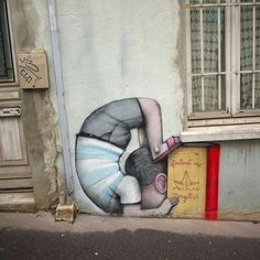 PINTURAS URBANAS Street Art Banksy, Murals Street Art, Best Street Art, Amazing Street Art, Fresco, Creative Wall Painting, Sidewalk Art, Graffiti Murals, Building Art