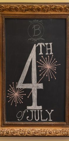 Chalkboard art inspiration for summer and the Fourth of July. Use Wallies peel-and-stick chalkboard sheets to make an easy framed chalkboard. Just cover a piece of cardboard (sized to frame) with Wallies chalkboard and then pop it into the frame! Chalk Writing, Chalkboard Writing, Chalkboard Lettering, Chalkboard Designs, Chalkboard Ideas, Chalkboard Quotes, Chalkboard Doodles, Chalkboard Drawings, Chalk Drawings