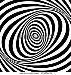 Whirl movement illusion. Op art design. Abstract textured background.  - stock photo