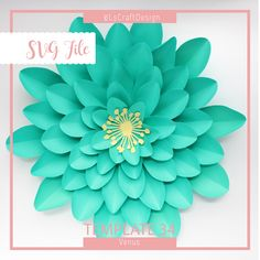 A personal favorite from my Etsy shop https://www.etsy.com/listing/527318412/svg-paper-flower-template-giant-paper