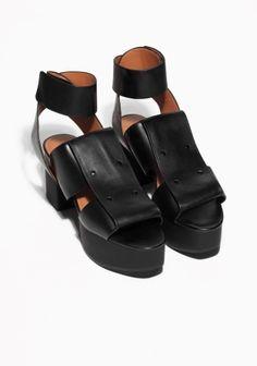 & Other Stories | Leather Platform Sandals