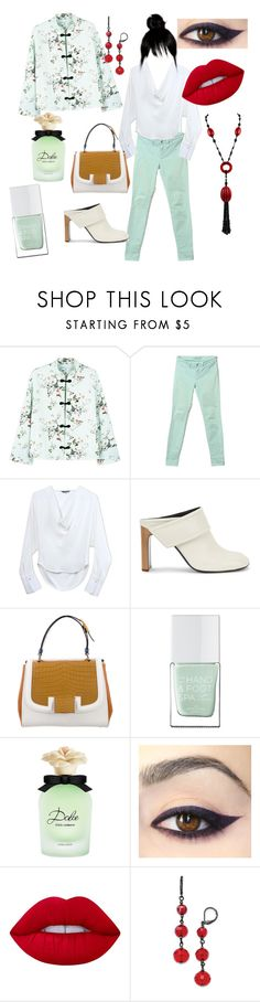 """""""Trending Kimono Jacket"""" by gigiglow ❤ liked on Polyvore featuring MANGO, J Brand, Maiyet, rag & bone, Fendi, The Hand & Foot Spa, Dolce&Gabbana, Lime Crime and 1928"""