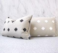 White Cross vs Black Zig Zag  / Cushion
