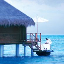 Taj Exotica Resort & Spa, Maldives, is an exclusive, private and romantic island resort lush with tropical plants and encircled by clear blue waters of one of the largest lagoons of the Maldives.