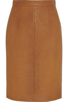 MIU MIU Textured-Leather Pencil Skirt. #miumiu #cloth #skirt