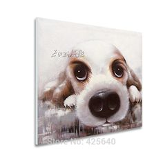 Aliexpress.com : Buy Pop art Cute Dog on canvas modern abstract oil painting handmade oil painting Animal Pop Art Home Decor Living Room from Reliable decorative yard art suppliers on Eazilife Oil Painting   Alibaba Group
