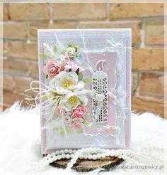www.basiabartoszewicz.pl Christening, Filigree, Wedding Anniversary, Handmade Cards, Wedding Cards, Cardmaking, Mixed Media, Decorative Boxes, Shabby Chic