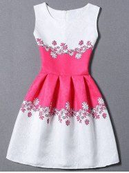 SHARE & Get it FREE | Elegant Round Neck Sleeveless Jacquard Princess Dress…