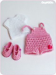 playful set for puki (_vasilka_) Tags: doll dress handmade crochet knit clothes brownie bjd puki