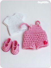 playful set for puki (_vasilka_) Tags: doll dress handmade crochet knit clothes brownie bjd puki