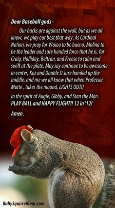 St. Louis Cardinals prayer. Why have I never seen this!? Love it!!