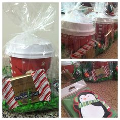 My daughter attends daycare and I knew I wanted to do something sweet for her teachers for Christmas (sidenote: I checked with my daycare director to see which holidays our teachers celebrated). Christmas Gift For Daycare Teacher, Daycare Gifts, Teacher Christmas Gifts, School Gifts, Holiday Fun, Diy Gifts, Holiday Gifts, Christmas Crafts, Cute Teacher Gifts