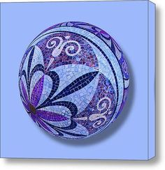 Mosaic Orb 1 on Stretched Canvas by RubinoFineArt on Etsy, $70.00