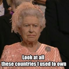 The Queen is very excited about our Olympics inboard. Just look at her excitement