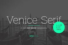 Venice Serif - Font Family by Unio | Creative Solutions on @creativemarket