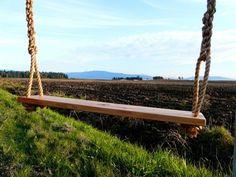 handmade wooden tree swings