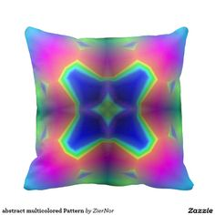 abstract multicolored Pattern Pillow