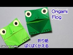 Origami Frog / 折り紙 パクパクかえる 折り方 - YouTube Origami Toys, Origami Frog, Easy Origami For Kids, How To Make Origami, Frog Puppet, Crafts For Kids, Paper Crafts, Youtube, Cards