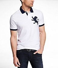 MODERN FIT EXTRA LARGE LION POLO #EXPRESS