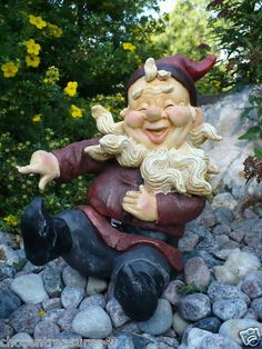Gnome Fellow Laughing, Having Fun, Pointing His Finger