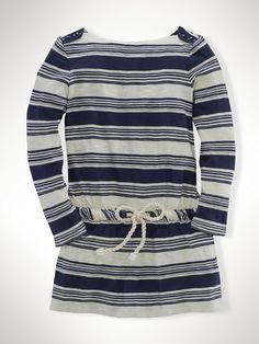 Striped Jersey Boatneck Dress - lengthen Oliver + s sailboat top with a dropped waist?!