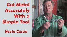 Artist Kevin Caron shows how he uses a simple tool you can make yourself helps make cuts more accurate