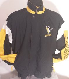Vintage Pittsburgh Penguins Mens Size Medium Windbreaker Starter Jacket #Starter #PittsburghPenguins