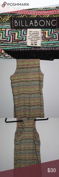 Billabong dress! Billabong dress, comfortable and cute! Size medium. Billabong Dresses Midi