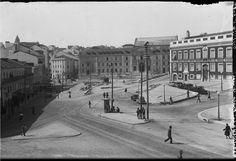 Praça do Brasil (today Largo do Rato), east view, 1935, Lisbon, Portugal  Photography by Eduardo Portugal, in a.f. C.M.L.