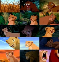 "Nala from ""The Lion King"" and ""The Lion King II: Simba's Pride"" Los gestos de Nala ,falta mi favorita :( Ah. y tambien cuando llora por ""simba muerto"" Nala Lion King, The Lion King 1994, Lion King Fan Art, Simba And Nala, Lion King Series, Lion King Movie, Disney Lion King, Hakuna Matata, Lion King Pictures"