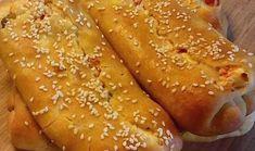 Αφράτες φλογέρες από ζύμη γιαουρτιού, γεμιστές με φέτα & πιπεριές Feta, French Toast, Breakfast, Morning Coffee, Morning Breakfast