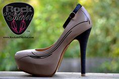 Shoe Name: UPGRADE U!  Neutral Pump with Stripe Option 1;  Order now at www.rockandmerlot.com