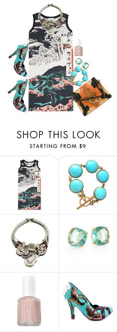 """""""agate"""" by crazysupernatural ❤ liked on Polyvore featuring Carven, DANNIJO, Kate Spade, Essie, Irregular Choice, Chloé and sparkle"""