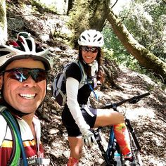 Ian asks Leah wanna adventure? Me Sure that sounds fun! Two hours in. Me This is awesome. 50 creek crossings hike a bikes poison oak bitch slaps and a couple crashes ... then the fun meter started to change.  Five hours in.  Me Ian you told me ... bla bla bla it was a THREE HOUR RIDE and downhill to the LAKE! Ian Man words and exclamations that mean nothing to a womans senses. Six hours in.  Me Get out of here. Leave me alone. Theres NO Fing LAKE! Then we hit cell service. Friends showed up…