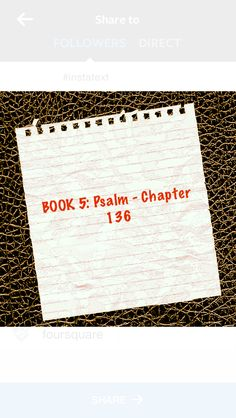"Devotion:Psalm 136  The never ending story of God's love  Verses highlighted:1,23-24,26 ""Give thanks to the Lord, for he is good.His love endures forever.He remembered us in our low estate His love endures forever.and freed us from our enemies.His love endures forever.Give thanks to the God of heaven.His love endures forever."" http://bible.com/111/psa.136.1.niv  *God's love includes kindness, mercy& faithfulness.God will never run out of love because it flows from a well that will never run…"