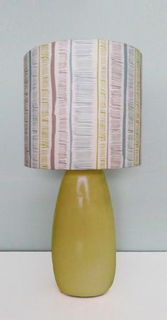 Tribal Stripe, cotton drum lampshade / pendant light. Mel Smith Designs - https://www.etsy.com/uk/shop/MelSmithDesigns?section_id=15299400&ref=shopsection_leftnav_8