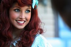 The Ariel at Disneyworld. - Imgur GAWD! i love her makeup and hair! Wish i could pull it off!