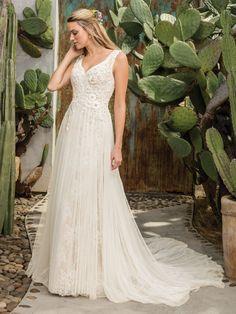 258c3db3da Style 2301 Sierra Light Nude Ivory Silver. Wedding Dress StylesV Neck ...