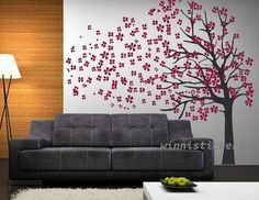 Vinyl Wall Decal Nature Design Tree Wall Decals Wall by WinneDEGIN, $65.00