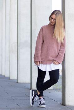 Pink Turtleneck Pullover Vans