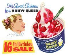 Dairy Queen advertisement, 1956.