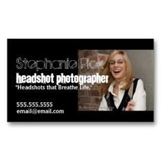 Business Card Examples Promotion Tools Of Cards Photographer Headshots Actors
