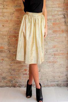 Luna Metallic Midi Skirt - Glamour and Glow  - 2 #midi #metallic #gold #veganleather #skirt #fashion #boutique #shoponline