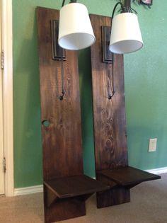 Rustic furniture diy bedroom night stands 46 ideas for 2019 Wood Bedroom Furniture, Bedroom Lamps, Rustic Furniture, Furniture Design, Diy Bedroom, Bedroom Ideas, Antique Furniture, Western Furniture, Furniture Market